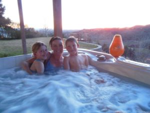 the Lund family likes SilkBalance spa water care in their hot tub