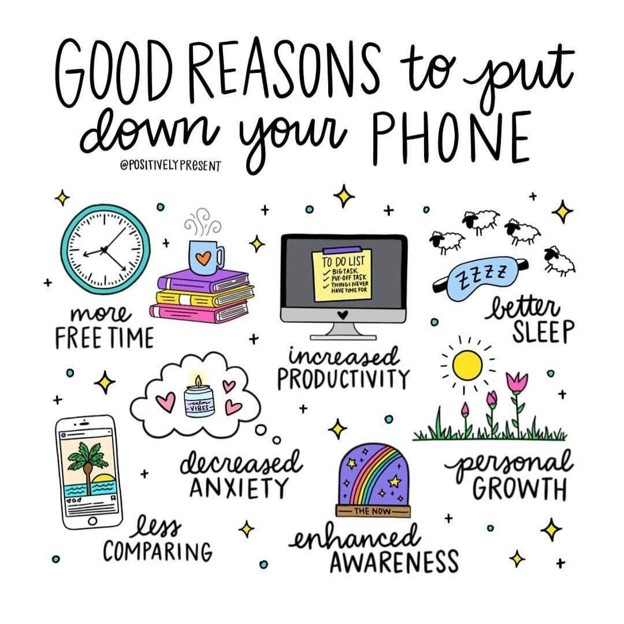 Reasons to put your cell phone down